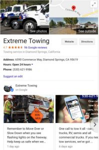 towing websites online profiles