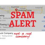 Tow Truck Business Fake Listing Local Pack